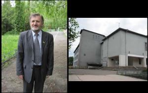 Left: Yuri Fedorov. Right: The school at Hvardiyske