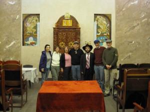 Sondra Shaye, Gail Werbach, Fran & Alan Bernstein, Rabbi Yehoshua Raskin, Sid Shaievitz, Mel Werbach