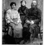 YOINE HERTSOVES (Forman) with his wife, Yokheved, and their daughter Leah. They perished in the pogrom.